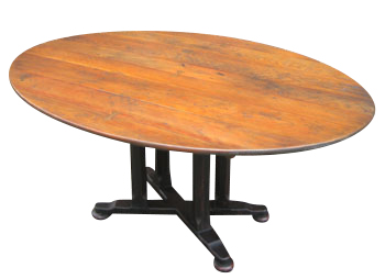 img Custom Oval Cherry Tables