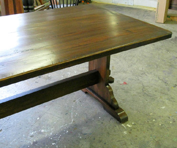 "img1"" Thick Trestle Table"